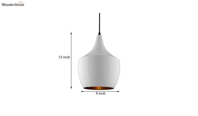 Nordic Modern White Metal Hanging Light-6