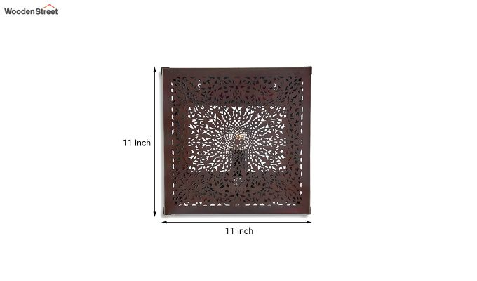 Oriental Copper Square Wall Light-5