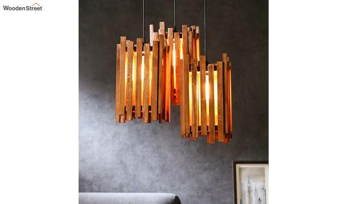 Palisade Brown Wooden Cluster Hanging Lamp-3