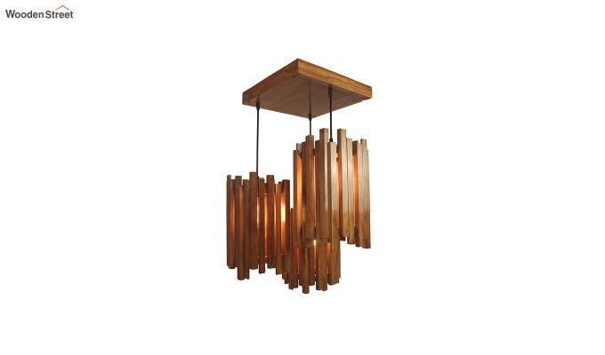 Palisade Brown Wooden Cluster Hanging Lamp-4