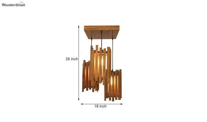 Palisade Brown Wooden Cluster Hanging Lamp-7
