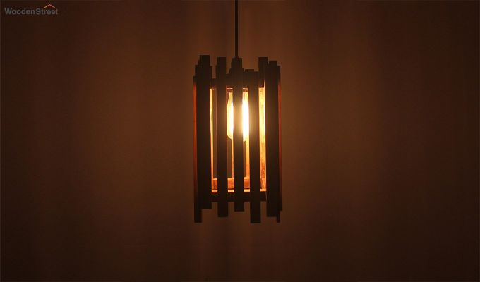 Palisade Brown Wooden Hanging Lamp-1