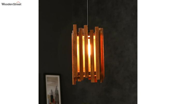 Palisade Brown Wooden Hanging Lamp-2