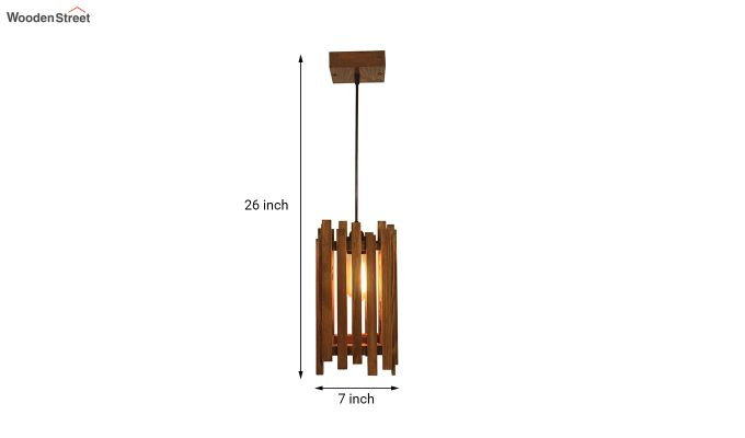 Palisade Brown Wooden Hanging Lamp-6