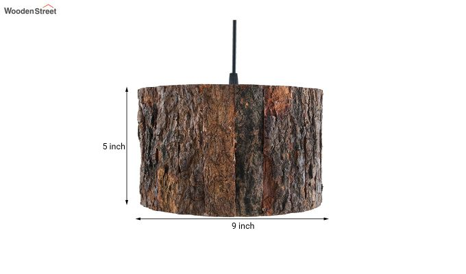 Rustic Wooden Log Hanging Light-5