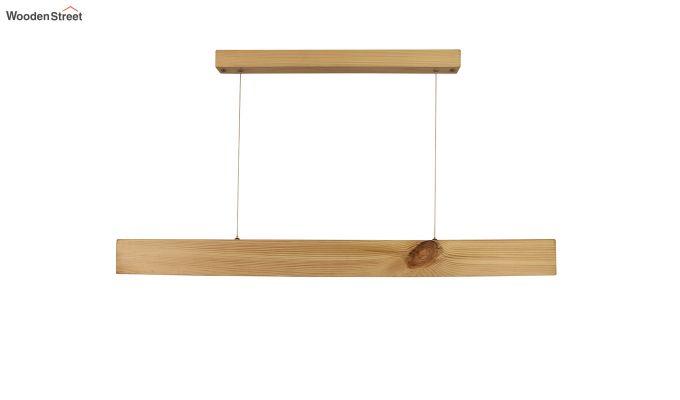 Slimline Beige Wooden 36-inch LED Hanging Lamp-4