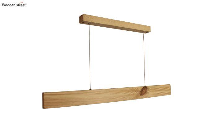 Slimline Beige Wooden 36-inch LED Hanging Lamp-5