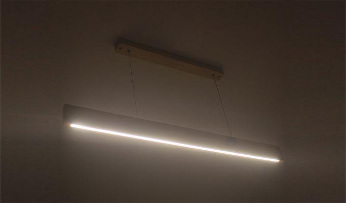 Slimline Beige Wooden 36-inch LED Hanging Lamp-2