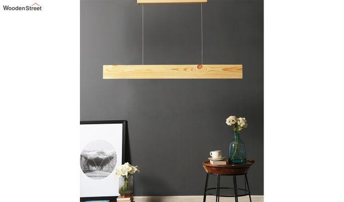 Slimline Beige Wooden 48-inch LED Hanging Lamp-1