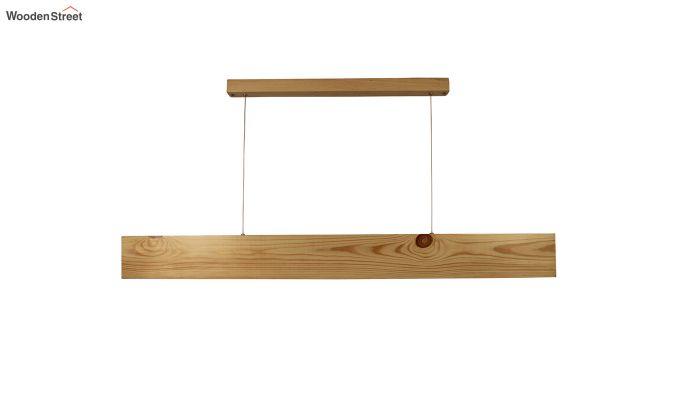 Slimline Beige Wooden 48-inch LED Hanging Lamp-3