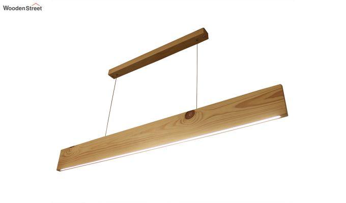 Slimline Beige Wooden 48-inch LED Hanging Lamp-4