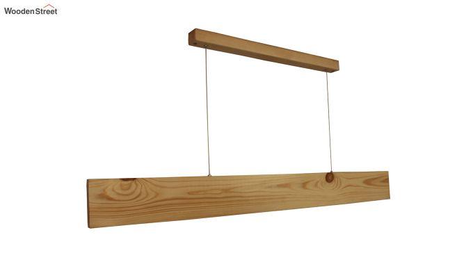 Slimline Beige Wooden 48-inch LED Hanging Lamp-5