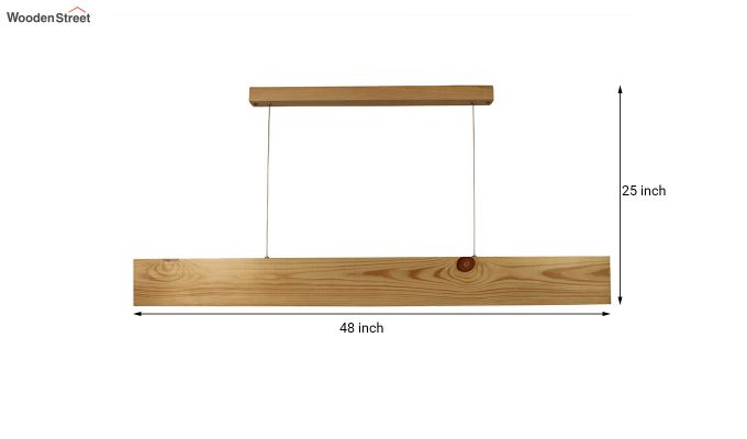 Slimline Beige Wooden 48-inch LED Hanging Lamp-8