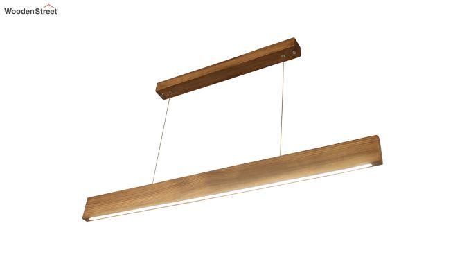 Slimline Brown Wooden 36-inch LED Hanging Lamp-7