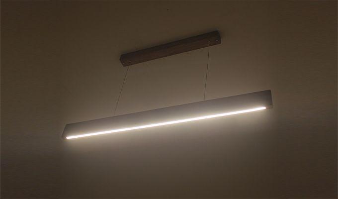 Slimline Brown Wooden 36-inch LED Hanging Lamp-3