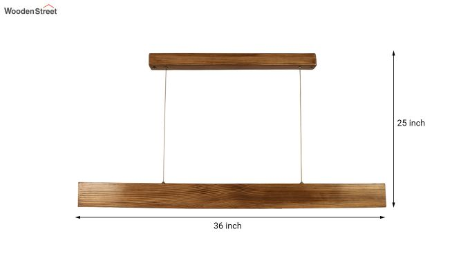 Slimline Brown Wooden 36-inch LED Hanging Lamp-10