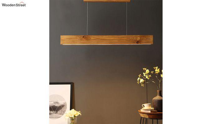 Slimline Brown Wooden 48-inch LED Hanging Lamp-1
