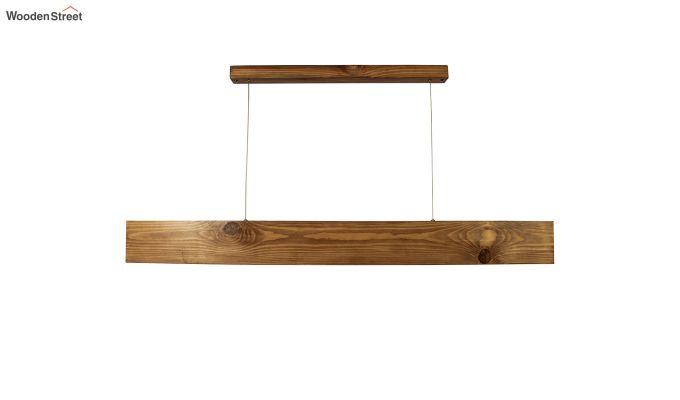 Slimline Brown Wooden 48-inch LED Hanging Lamp-2