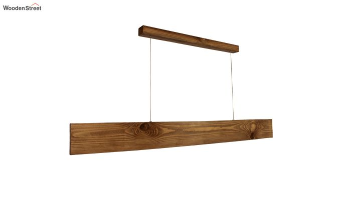 Slimline Brown Wooden 48-inch LED Hanging Lamp-3