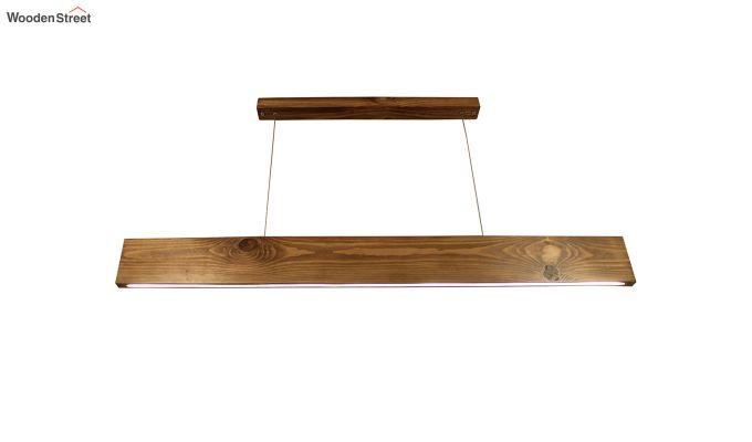 Slimline Brown Wooden 48-inch LED Hanging Lamp-4