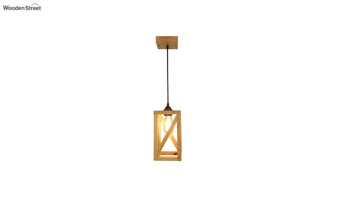 Symmetrical Beige Wooden Hanging Lamp-6
