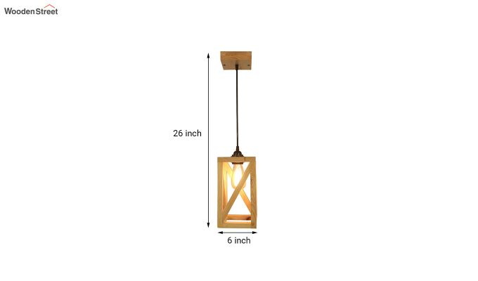 Symmetrical Beige Wooden Hanging Lamp-7