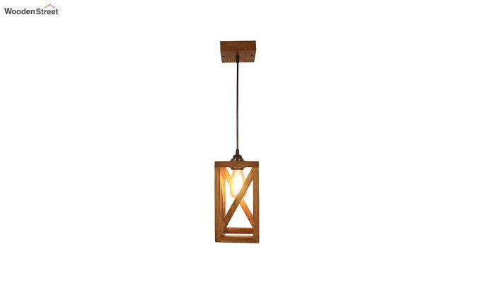 Symmetrical Brown Wooden Hanging Lamp-5