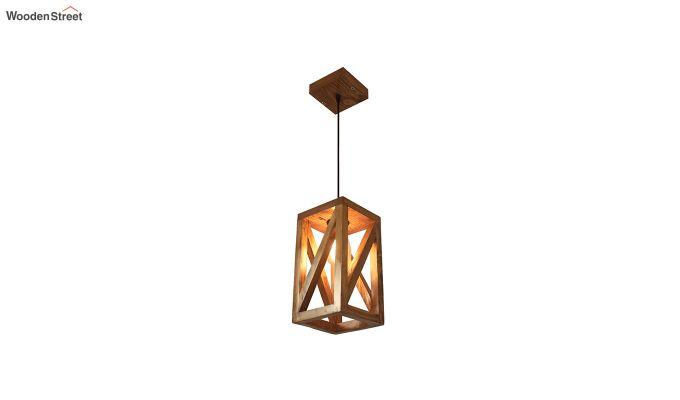 Symmetrical Brown Wooden Hanging Lamp-6