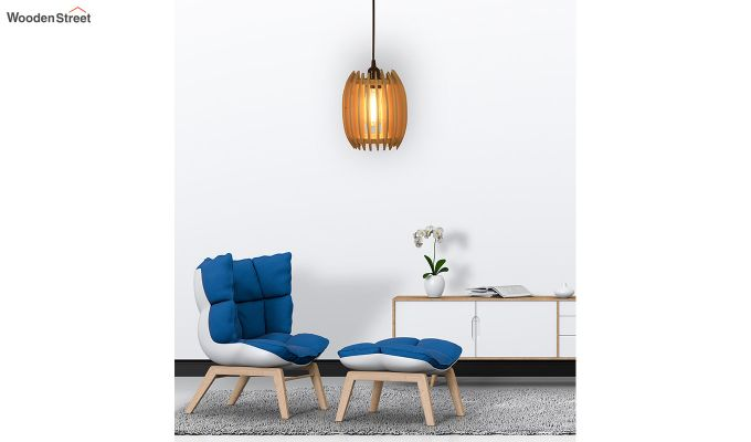 Ventus Beige Wooden Hanging Lamp-4
