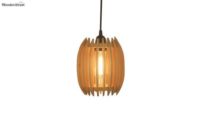 Ventus Beige Wooden Hanging Lamp-5