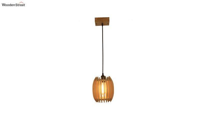 Ventus Beige Wooden Hanging Lamp-6