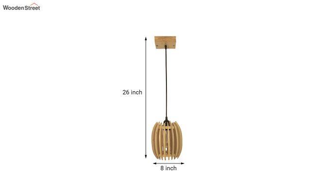 Ventus Beige Wooden Hanging Lamp-8