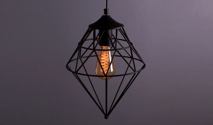 Vintage Edison Classic Gem Filament Hanging Light-1