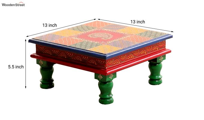 Multi - Coloured Chowki-3