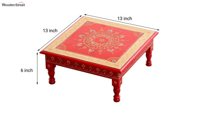 Scarlet Mandala Chowki (Set Of 3)-5
