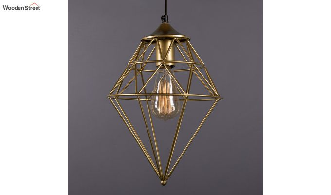 Classic Golden Vintage Gem Filament Hanging Light-1