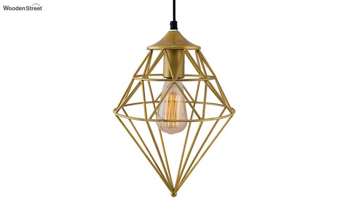 Classic Golden Vintage Gem Filament Hanging Light-2