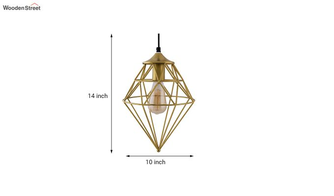 Classic Golden Vintage Gem Filament Hanging Light-4
