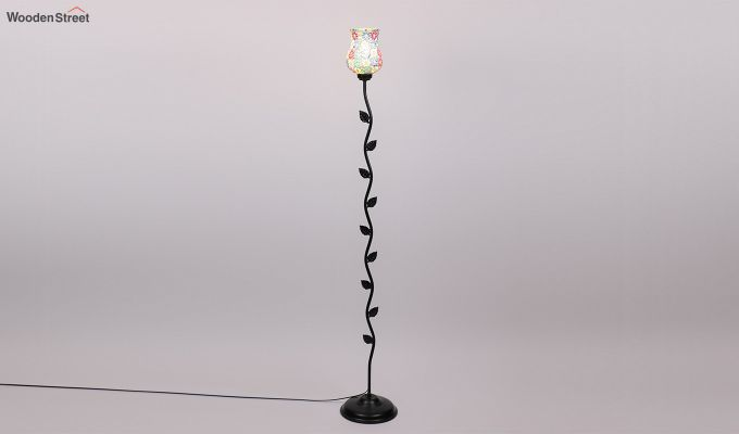 Beanstalk Flower Shell Glass Floor Lamp-4