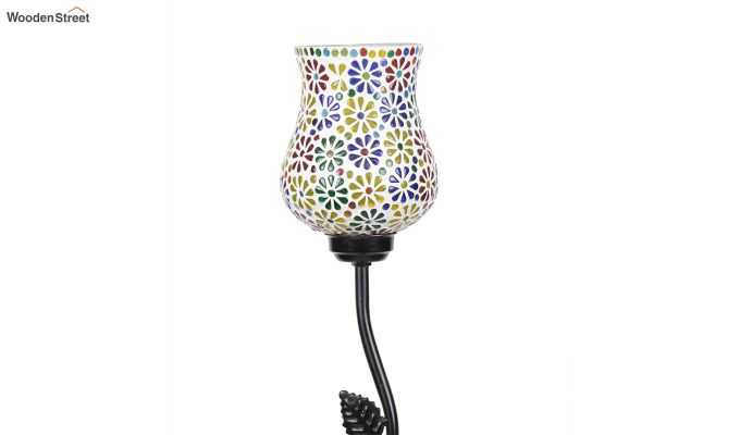 Beanstalk Flower Shell Glass Floor Lamp-6