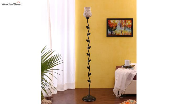 Beanstalk Jewel Shell Glass Floor Lamp-2