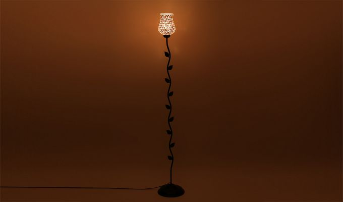 Beanstalk Jewel Shell Glass Floor Lamp-3