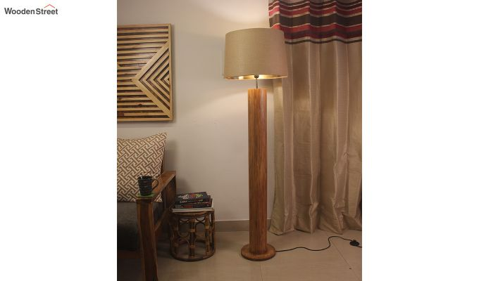 Cedar Brown Wooden Floor Lamp-1