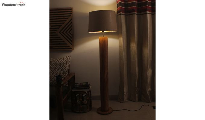 Cedar Brown Wooden Floor Lamp-2