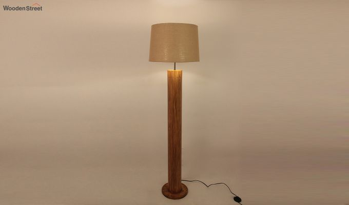 Cedar Brown Wooden Floor Lamp-3