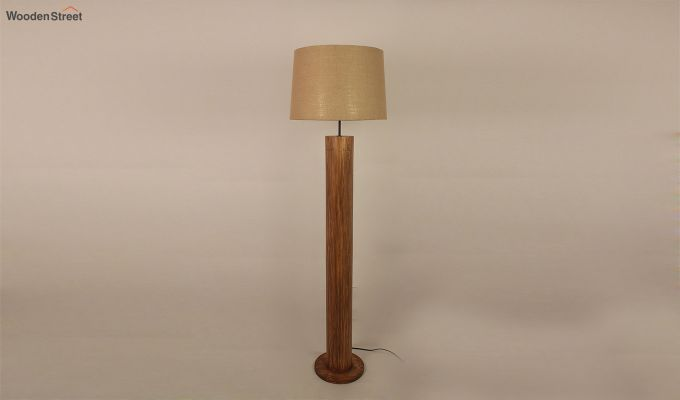 Cedar Brown Wooden Floor Lamp-4