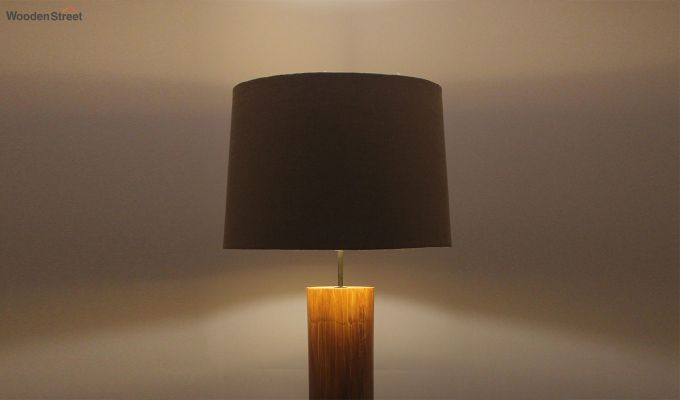 Cedar Brown Wooden Floor Lamp-5