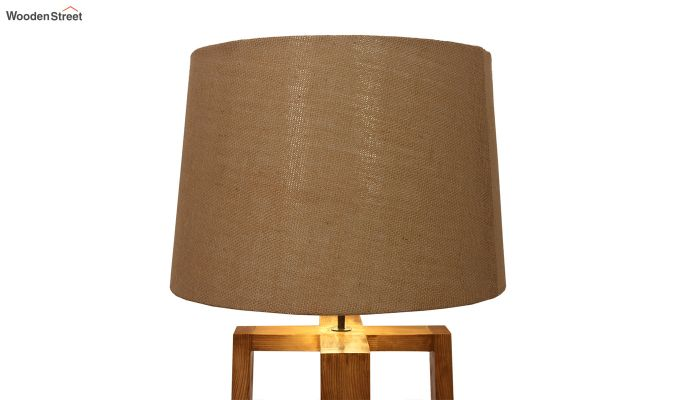 Criss Cross Brown Wooden Floor Lamp-6