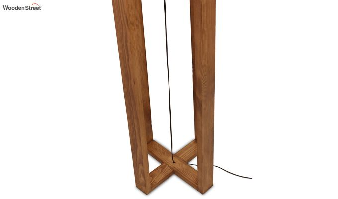 Criss Cross Brown Wooden Floor Lamp-7