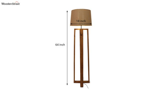Criss Cross Brown Wooden Floor Lamp-8